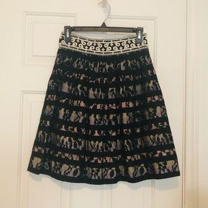 Anthropologie Black Lace Skirt Size 0 🖤